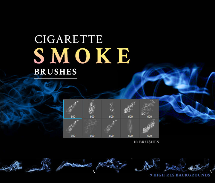 Fantastic Cigarette Smoke brushes for photoshop