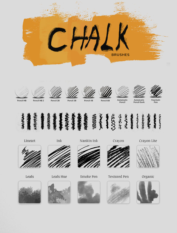 Download chalk brushes for Photoshop