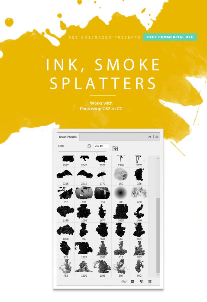 Download ink and blood splatter brush set