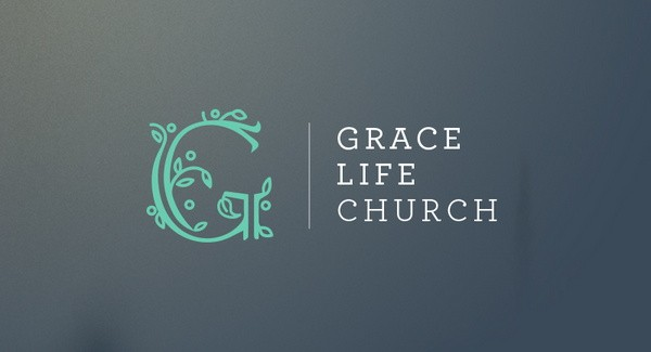 monogram logo style for a church