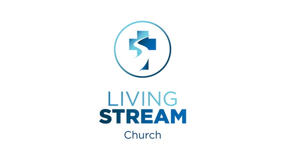 nearby stream and church illustrated in logo