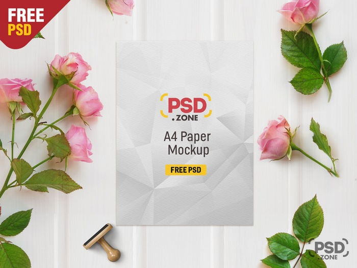psd mockup with paper wrinkles