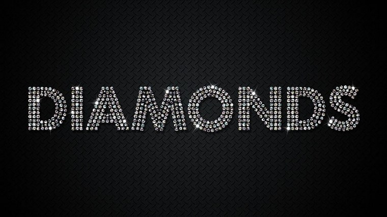 Diamonds Text Effect