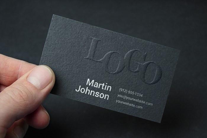 card in hand mockup