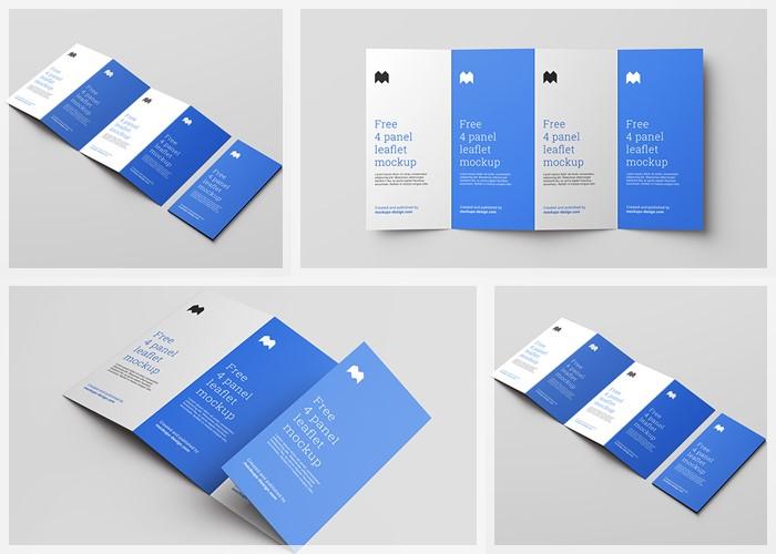 4 fold DL Leaflet Mockup