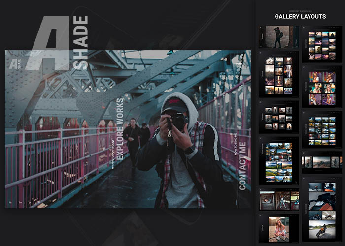 ashade photography template