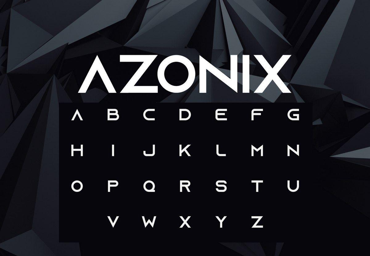 azonic free font