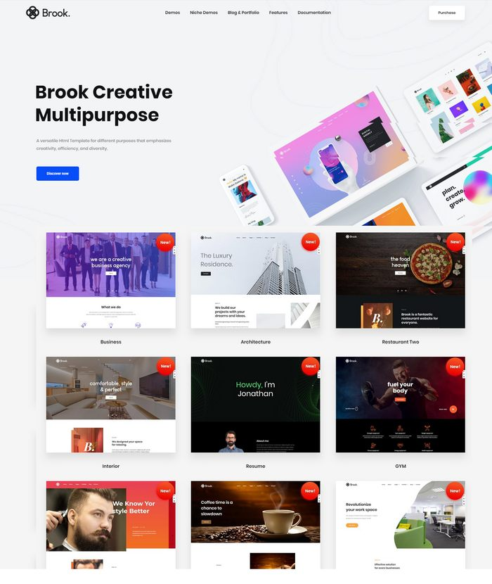 best html template