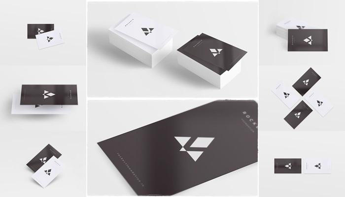 simple card mockup