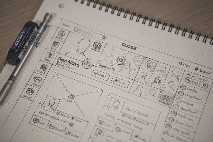 web wireframe example