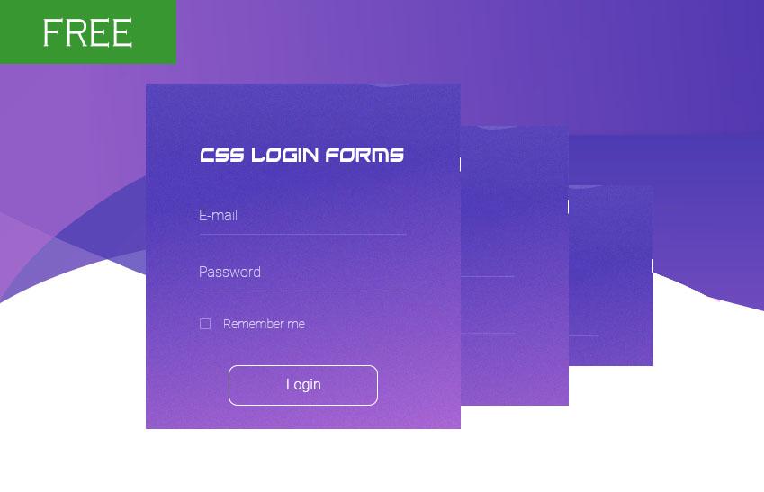 free login form CSS
