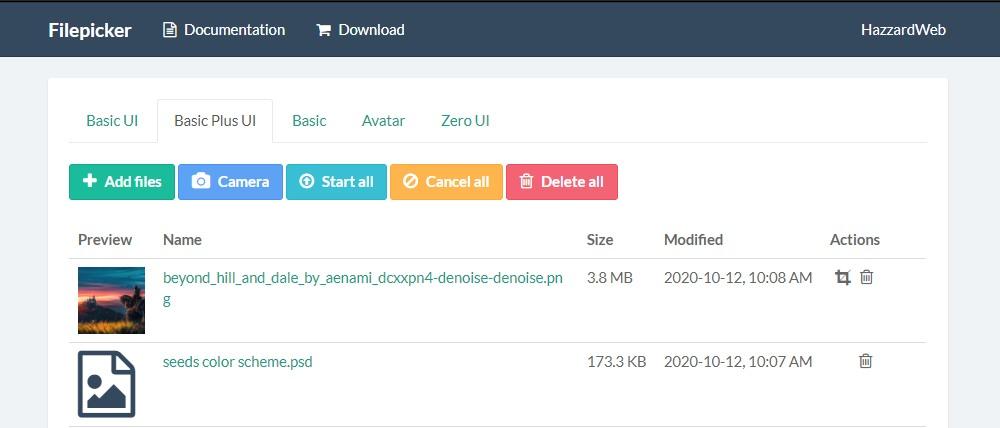 Multi file uploader