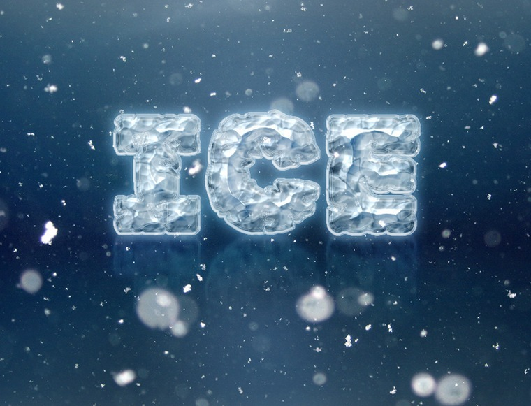 Create an Easy Ice Text Effect