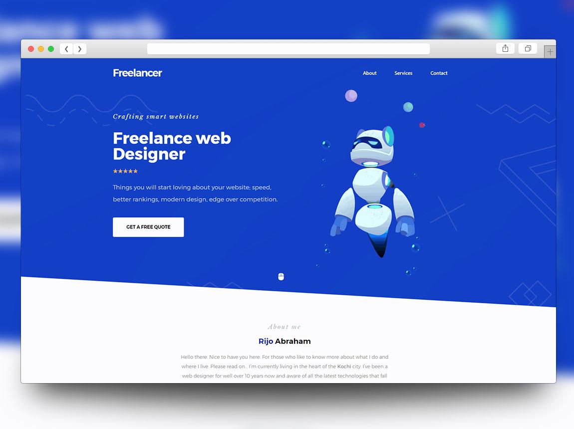 freelancer elementor template