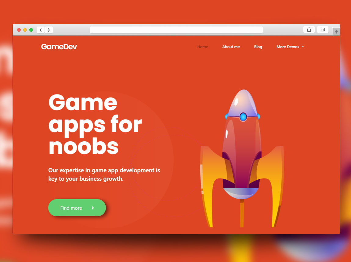 personal website theme for free