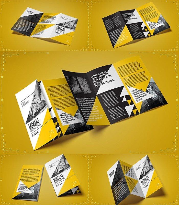 tri-fold leaflet mockup