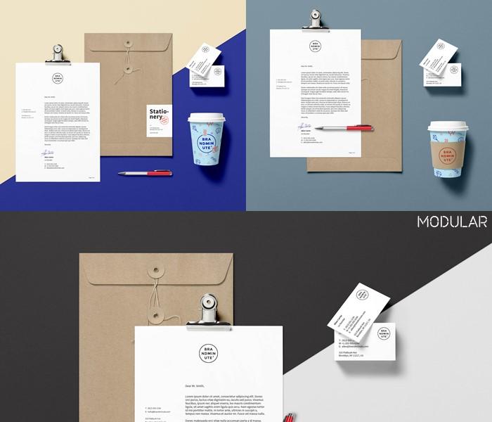 modular branding mockup