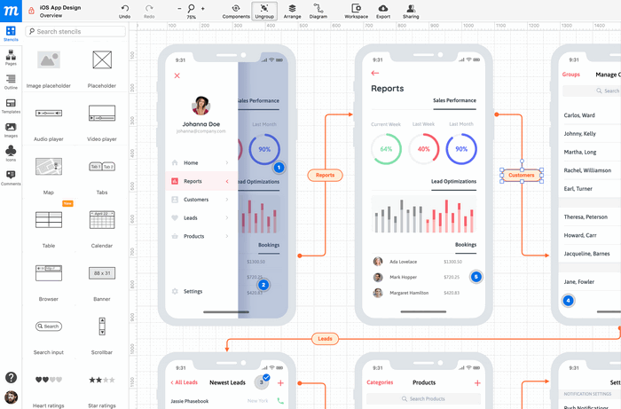 moqups wireframe tool