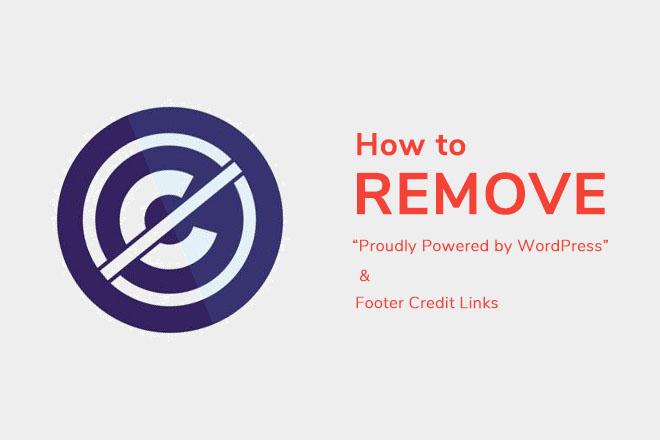 remove footer links wordpress