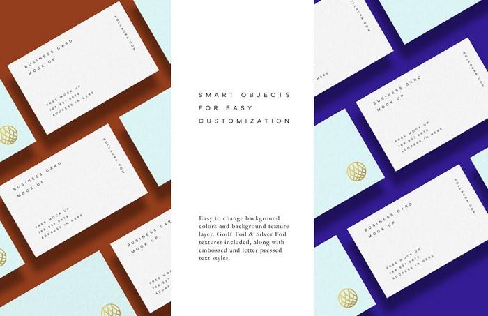 textured card mockups