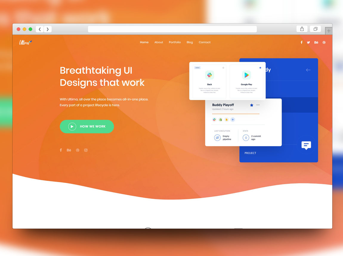 free creative website template