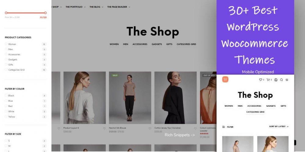 33 Best WordPress WooCommerce Themes 2019